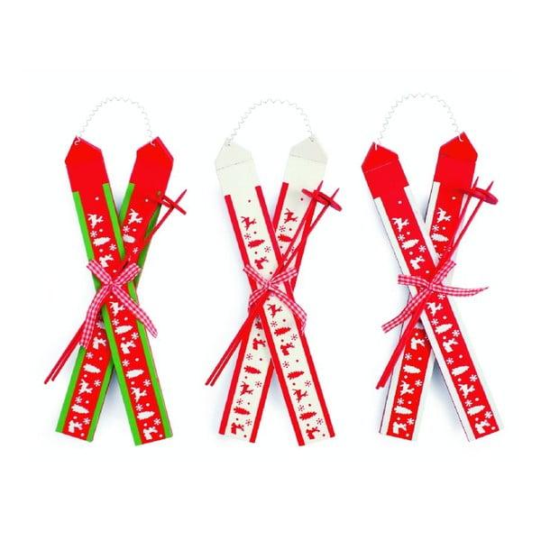 Zestaw 3 dekoracji Hanging Ski