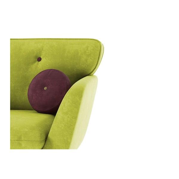 Fotel Alva, zielony/fioletowy