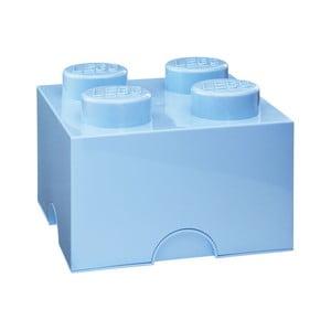 Jasnoniebieski pojemnik kwadratowy LEGO®