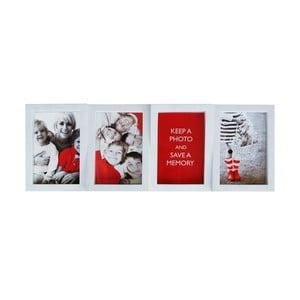 Zestaw czterech ramek na zdjęcia 10x15, biały