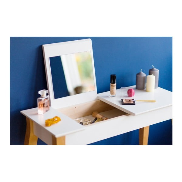 Biała toaletka z lustrem Ragaba Dressing Table, dł. 65 cm