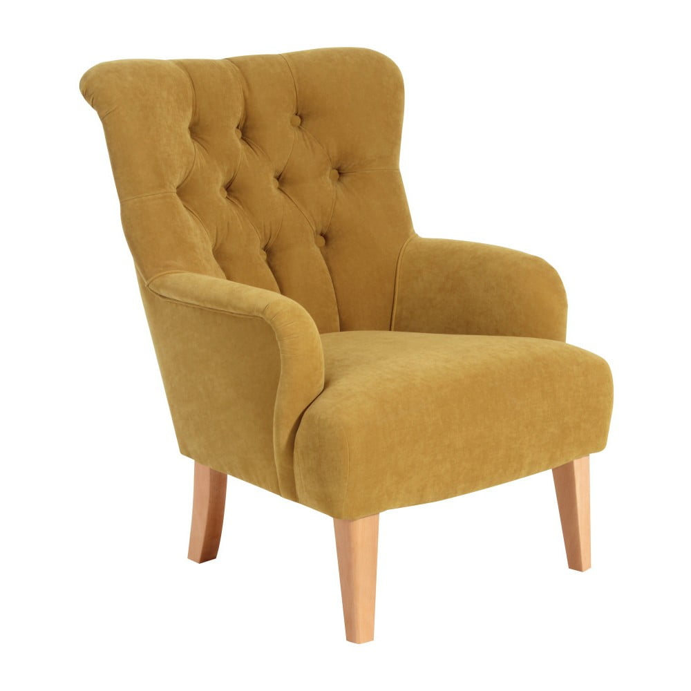 Żółty fotel Max Winzer Brandon