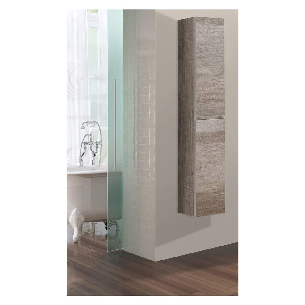 Szafka Wisząca Do łazienki Column Motyw Dębu Bonami