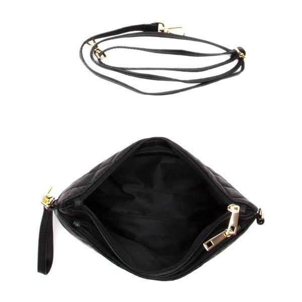 Skórzana torebka Carla Ferreri 2136 Nero