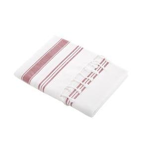 Ręcznik turecki Meryem White/Persian Red, 95x170 cm