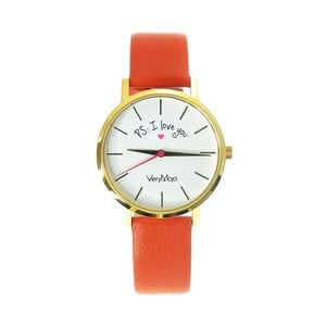 Zegarek VeryMojo PS I Love You, pomarańczowy