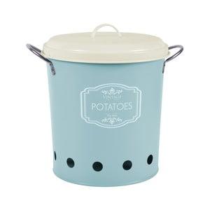 Niebieski pojemnik blaszany na ziemniaki Esschert Design