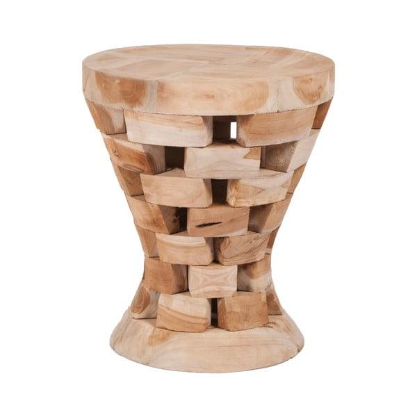 Stołek z drewna tekowego Magnar