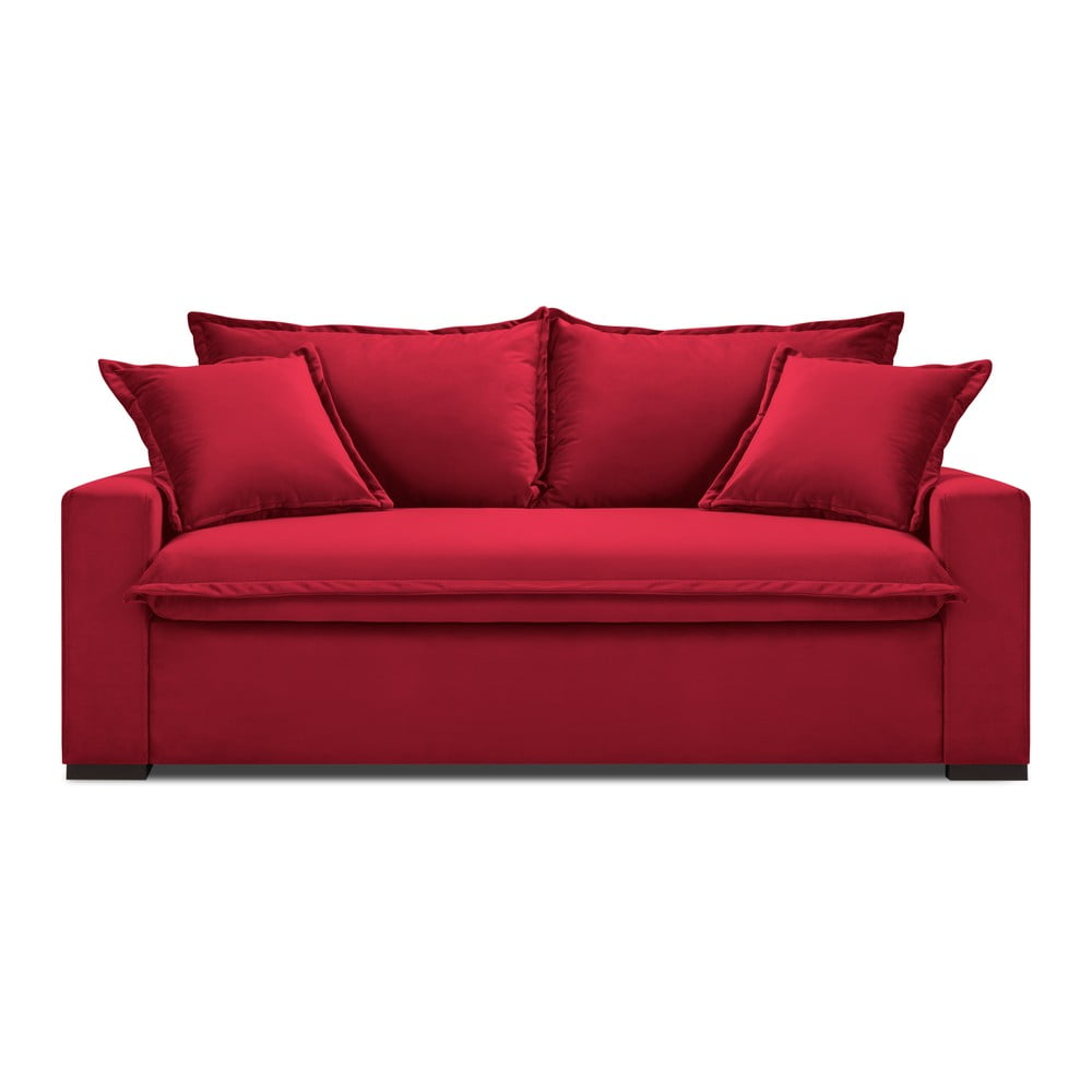 Czerwona rozkładana sofa Kooko Home Mezzo