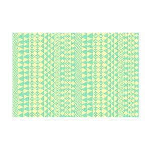 Winylowy dywan Étnico Crema Turquesa, 100x150 cm