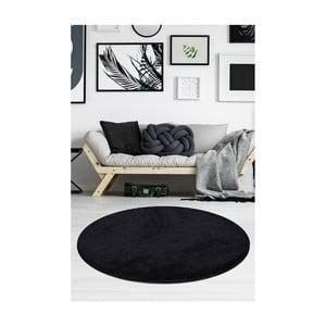Czarny dywan Milano, ⌀ 90 cm