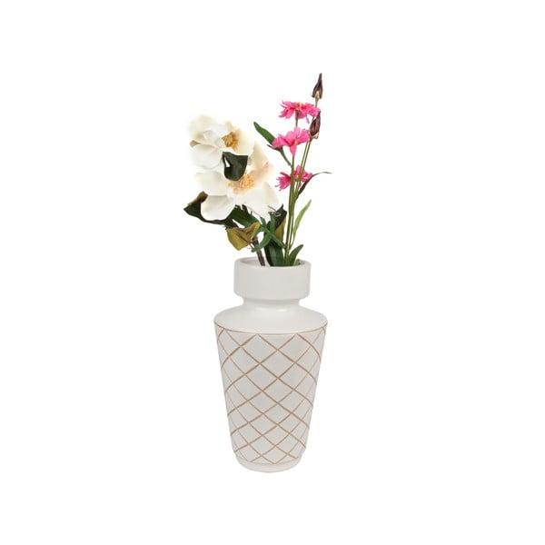 Biały wazon ETH Carved Diamonds