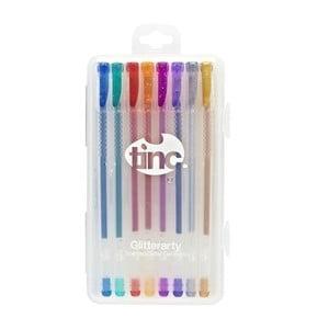 Zestaw 8 zapachowych brokatowych długopisów żelowych TINC Glitterarty