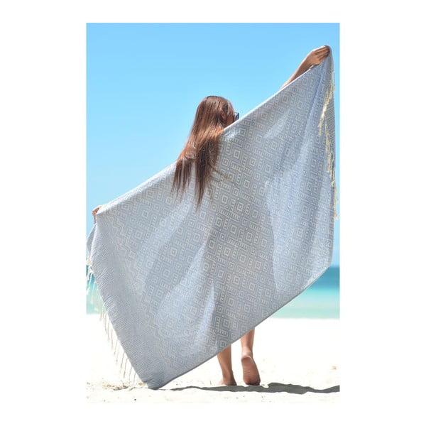 Ręcznik hammam Peak Blue, 95x180 cm