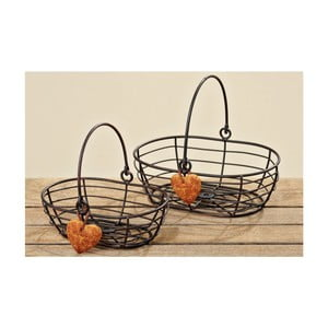 Zestaw 2 koszyków Orange Heart