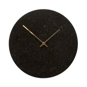 Czarny zegar wiszący Hübsch Brandi, wys. 35 cm