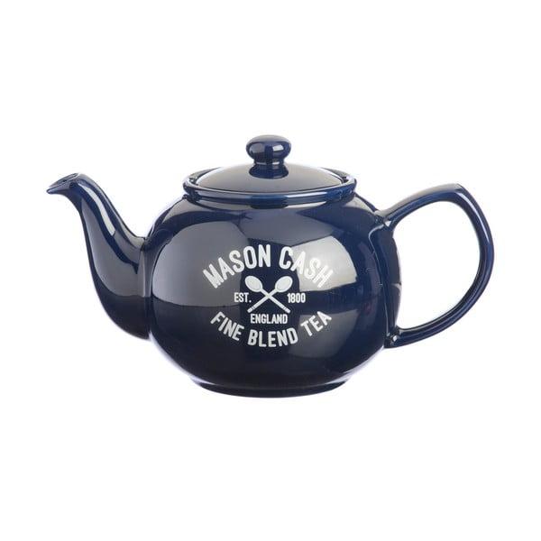 Niebieski dzbanek do herbaty Mason Cash Varsity, 1,1 l