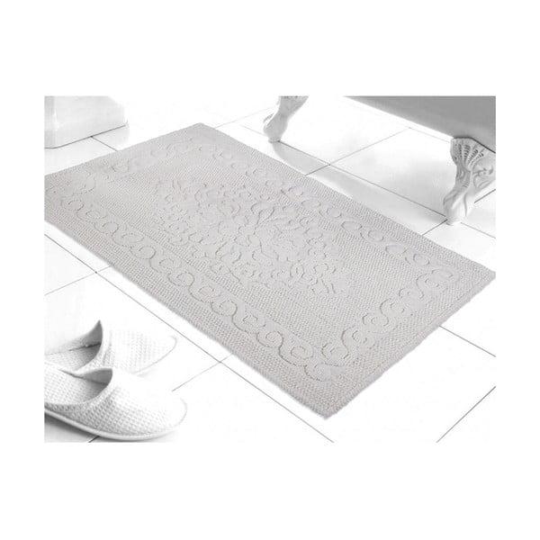 Mata łazienkowa Damask White, 60x100 cm
