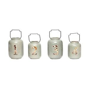 Zestaw 4 lampionów ceramicznych Hübsch Kresten