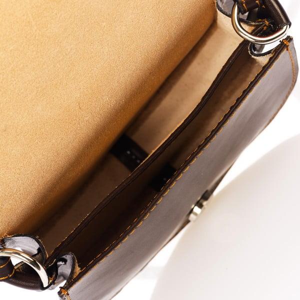 Ciemnobrązowa torebka skórzana Federica Bass Kaus