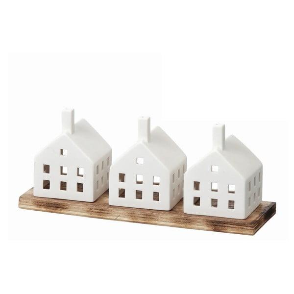 Zestaw 3 świeczników House