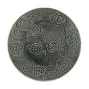 Czarny talerz ozdobny Antic Line Roses, ⌀25,5cm
