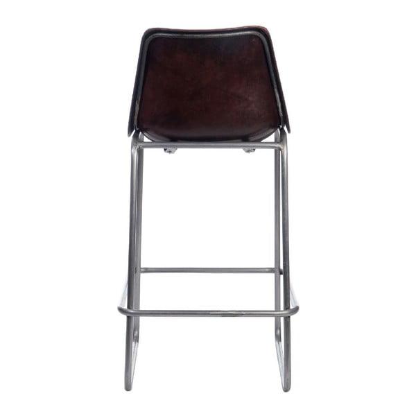 Krzesło barowe Leather Dark Brown, 45x42x101 cm