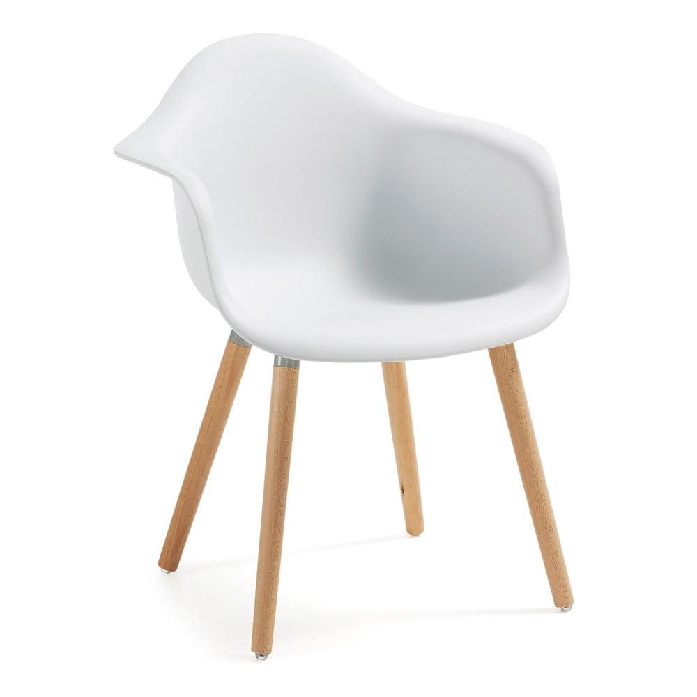 Biały fotel La Forma Kenna