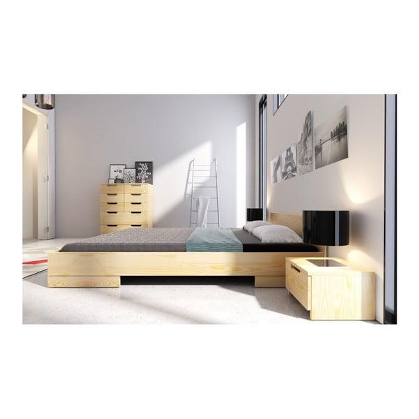 Łóżko 2-osobowe z drewna sosnowego SKANDICA Spectrum, 200x200 cm