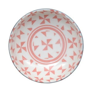 Różowa miseczka Tokyo Design Studio Geo Eclectic, 9,5 x 3 cm
