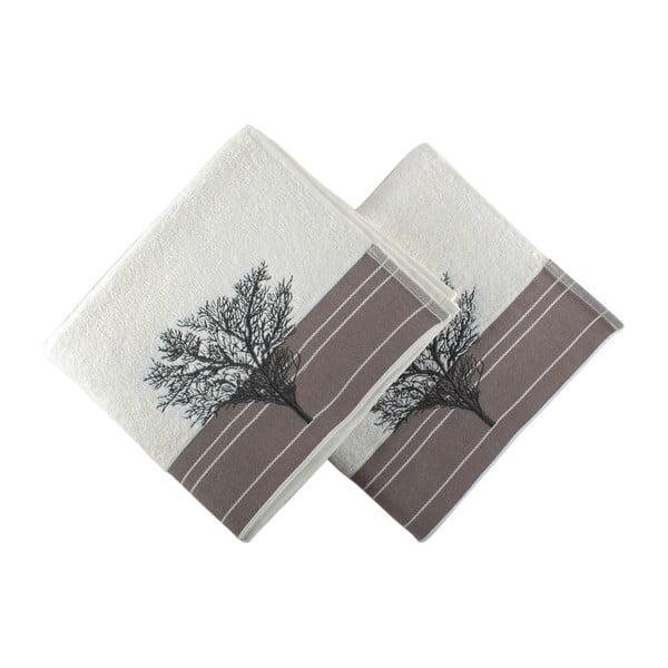 Zestaw 2 ręczników Infinity White, 50x90 cm