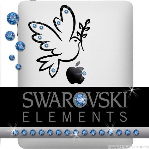 Naklejka z 15 kryształkami Swarovski Fanastick Sapphire