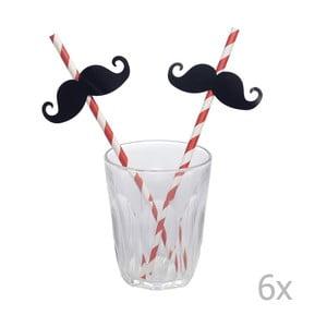 Zestaw słomek z wąsami Rex London Moustache