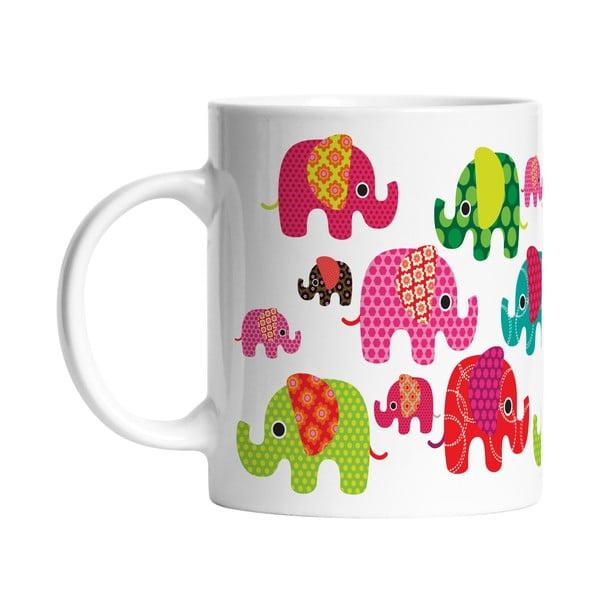 Ceramiczny kubek Elephants in Love, 330 ml