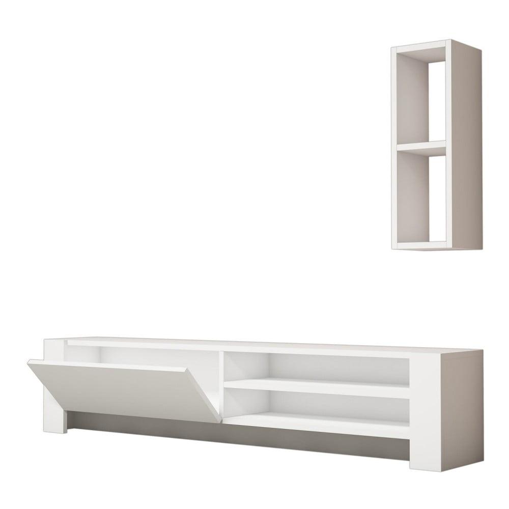 Biała szafka pod TV Naz