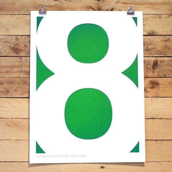 Plakat Eight Quote, 61x46 cm