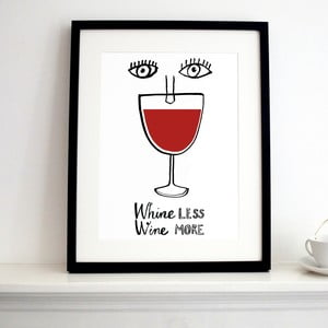 Plakat Wine More, 30x40 cm