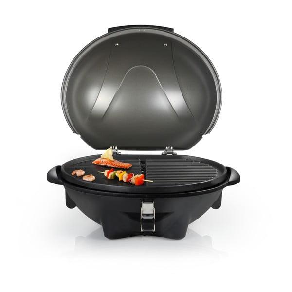 Czarny elektryczny grill stołowy lub stojący Tristar, moc 2200W