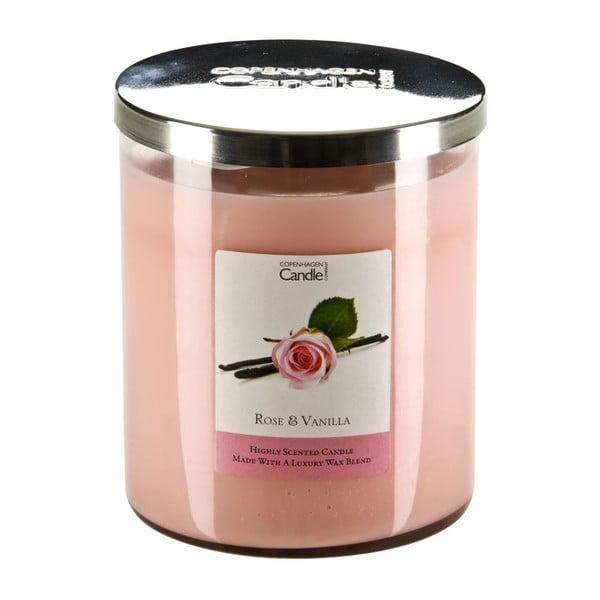 Świeczka zapachowa o zapachu róży i wanilii Copenhagen Candles,czas palenia 70 godz.