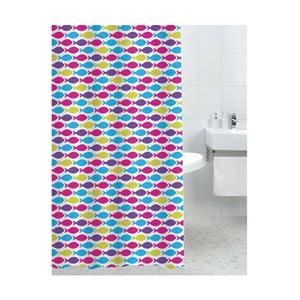 Zasłona prysznicowa Happy Fish, 180x180 cm