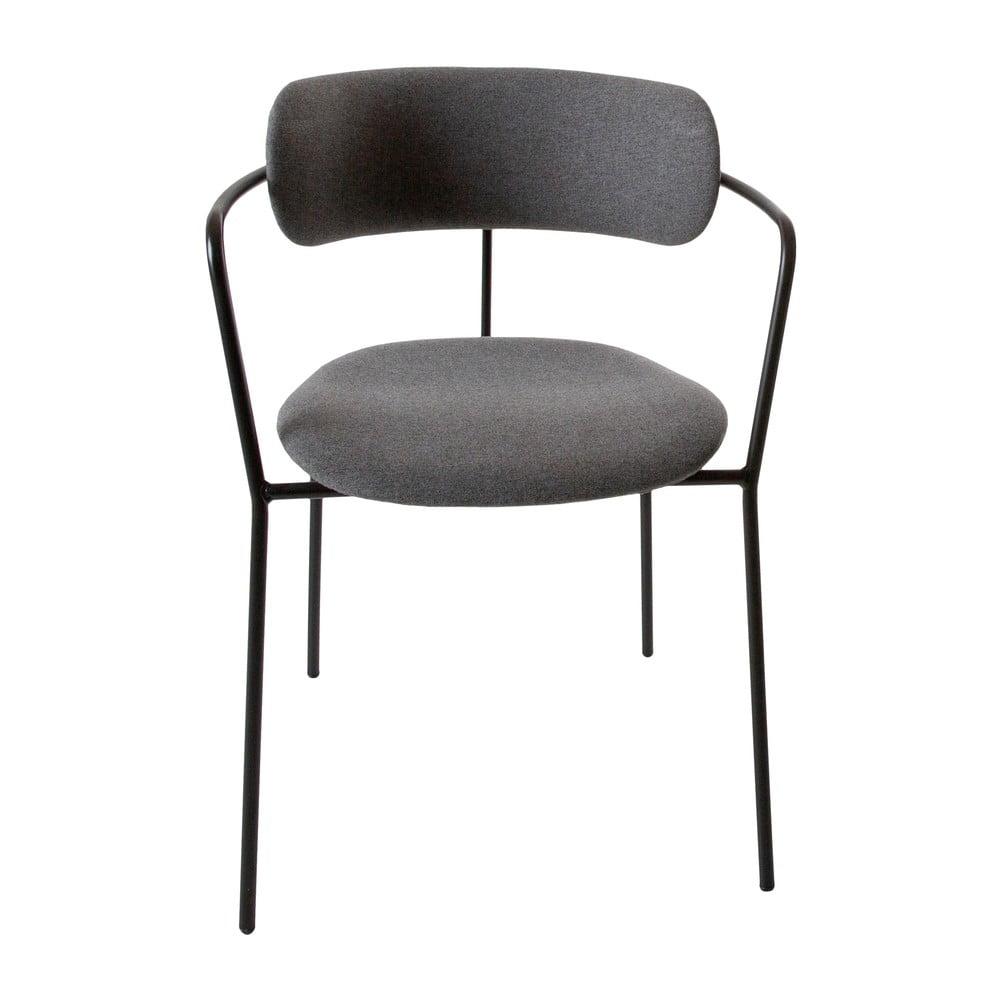 Czarne krzesło Canett Violet