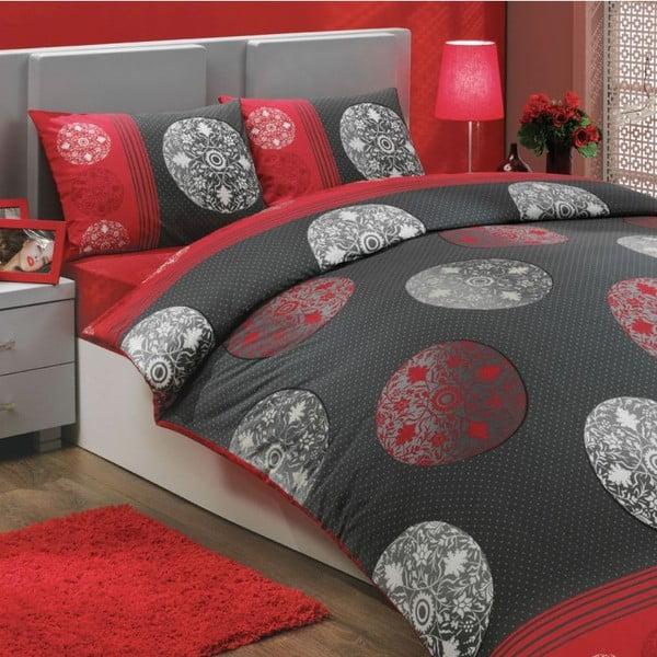 Komplet pościeli na łóżko podwójne Valence Red, 200x220 cm
