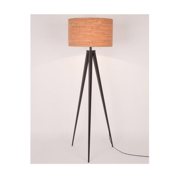 Lampa stojąca Tripod Cork, czarna