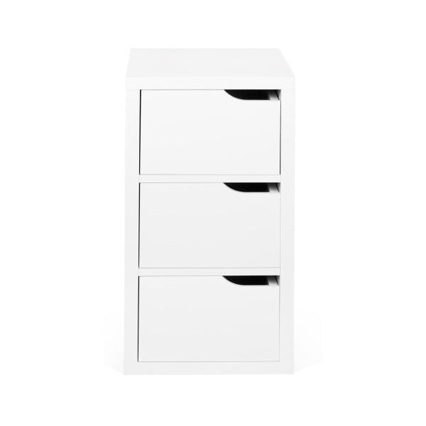 Biała komoda z 3 szufladami TemaHome Basic