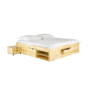 Łóżko sosnowe SOB Pintea, 140x200 cm