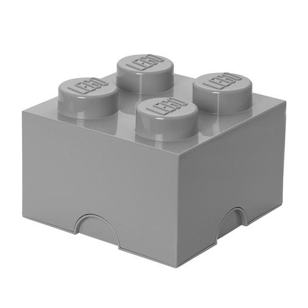 Szary kwadratowy pojemnik LEGO®