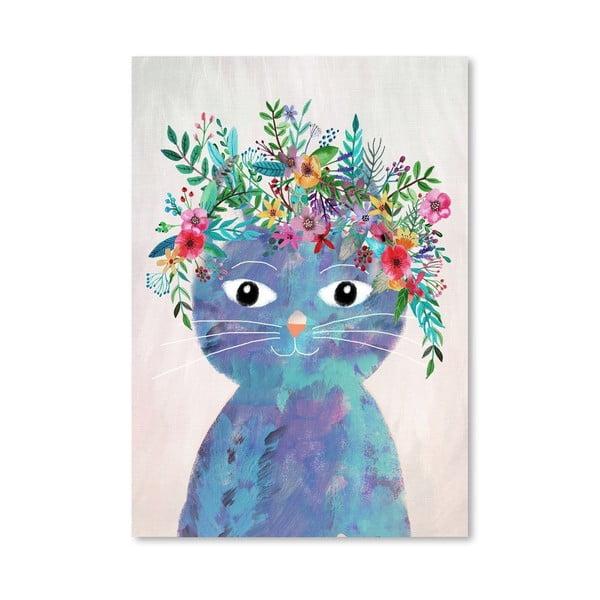 Plakat (projekt: Mia Charro) - Flower Cat II