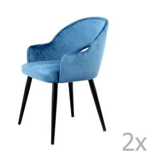 Komplet 2 niebieskich krzeseł 360 Living Veit