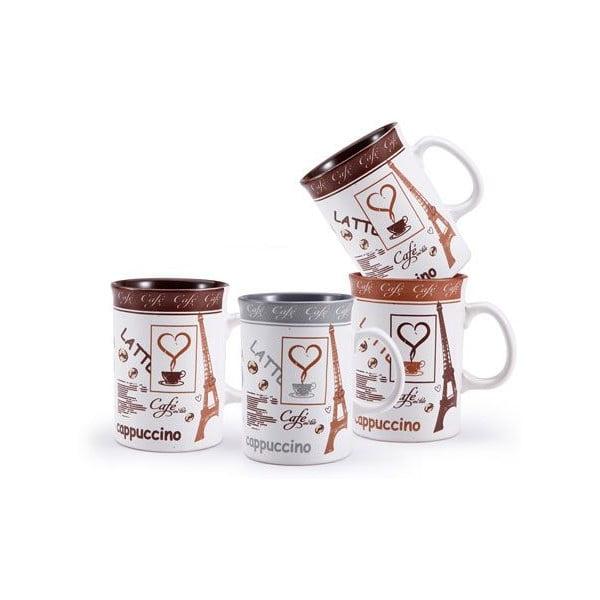 Zestaw kubków Cappuccino ze stojakiem, 4 szt.