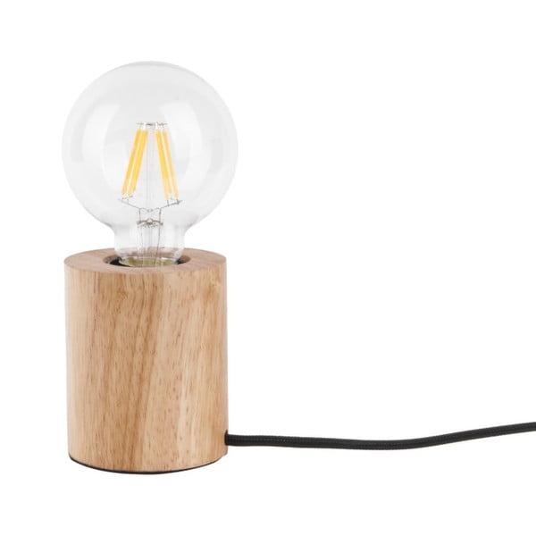 Lampa stołowa z drewnianą podstawą Leitmotiv Bar